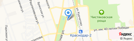 Детский сад №61 на карте Краснодара