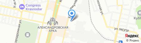 Центр Полиграфия на карте Краснодара