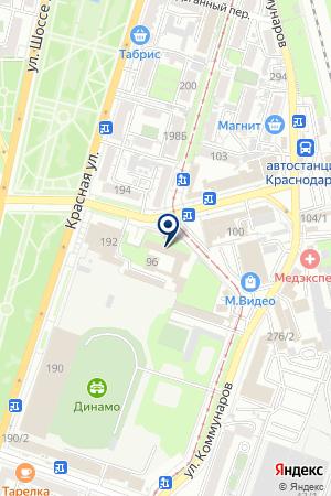 ГЛАВНОЕ УПРАВЛЕНИЕ ВНУТРЕННИХ ДЕЛ (ГУВД) ПО КРАСНОДАРСКОМУ КРАЮ на карте Краснодара