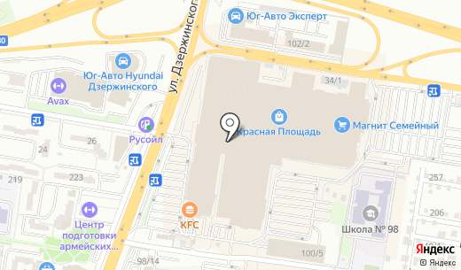 ALFA BETA. Схема проезда в Краснодаре