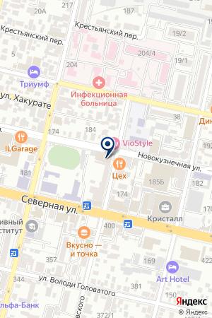 МЕЛОДИЯ ЛЮБВИ на карте Краснодара