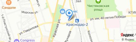 Вольница на карте Краснодара