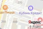 Схема проезда до компании Клевер Шкаф в Краснодаре