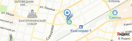 Кафе на ул. Мира на карте Краснодара