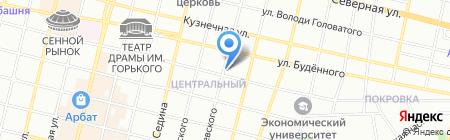 Торес на карте Краснодара
