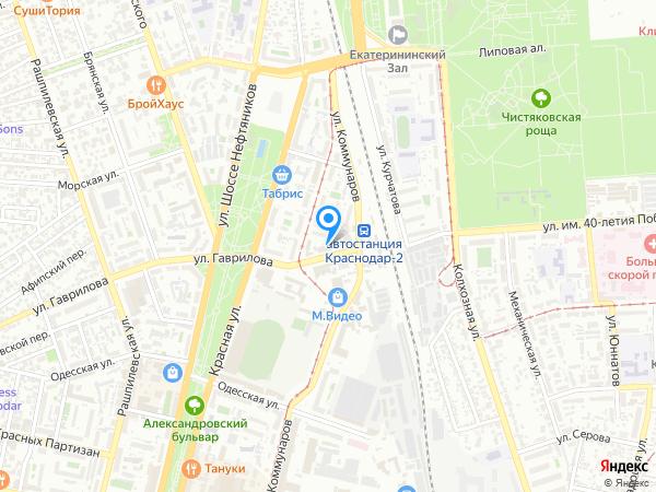 краснодара фонбет на карте