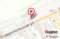 Схема проезда до компании А-Адамс в Краснодаре