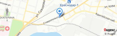 Надежда на карте Краснодара