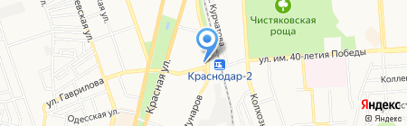 Роза ветров Кубань на карте Краснодара