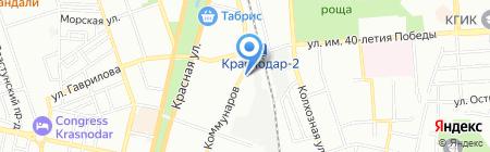 Кубальт на карте Краснодара
