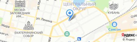 Чистый город на карте Краснодара