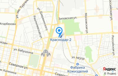 Местоположение на карте пункта техосмотра по адресу г Краснодар, ул им. Гаврилова П.М., д 104