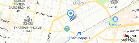 Вивасан на карте Краснодара