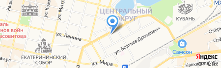 Гельветика-Краснодар на карте Краснодара
