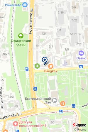 Продовольственный магазин на Зиповской на карте Краснодара