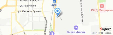 Форд-Юг на карте Краснодара