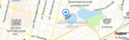Белая берёза на карте Краснодара
