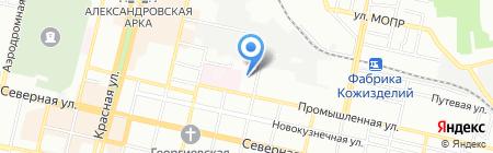 Сплит-Кубань на карте Краснодара