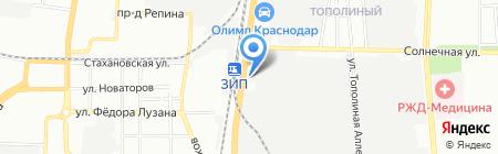 АНТАНТА на карте Краснодара