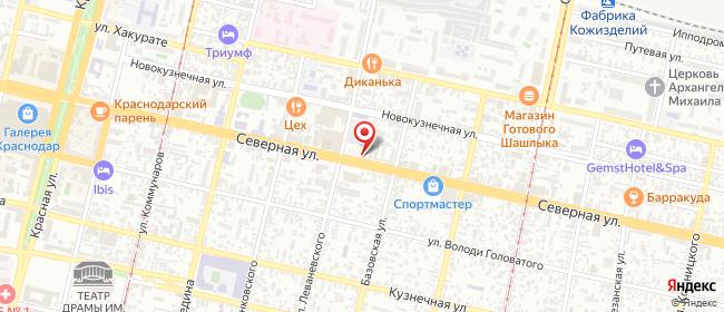 Карта расположения пункта доставки Ремонт сотовых телефонов и портативной технике, продажа сотовых, а так же продажа аксессуаров в городе Краснодар