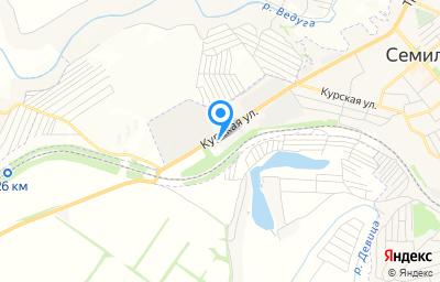 Местоположение на карте пункта техосмотра по адресу Воронежская обл, г Семилуки, ул Курская, зд 109