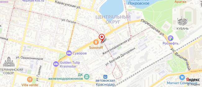 Карта расположения пункта доставки Халва в городе Краснодар