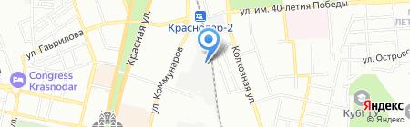 Провими на карте Краснодара