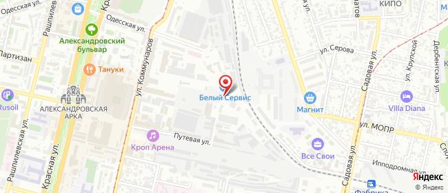 Карта расположения пункта доставки КубаньВСети в городе Краснодар