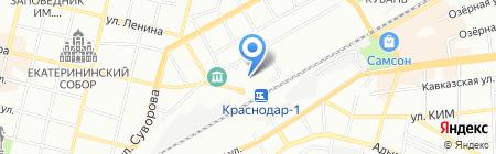 Акрукс на карте Краснодара