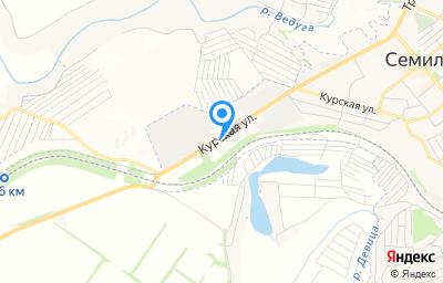 Местоположение на карте пункта техосмотра по адресу Воронежская обл, г Семилуки, ул Курская, д 109