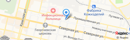 Верх на карте Краснодара