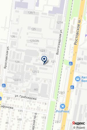 ТФ АМЕТИСТ-ПЛЮС на карте Краснодара