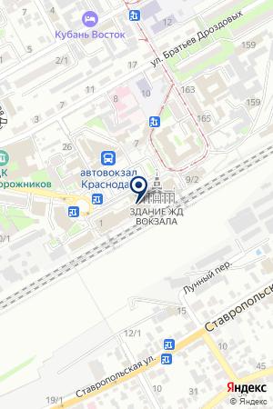 ПТФ ЮЖНАЯ КОРОНА на карте Краснодара