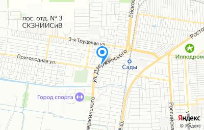 Местоположение на карте пункта техосмотра по адресу г Краснодар, проезд 1-й Пригородный, д 56