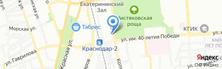 Астра на карте Краснодара