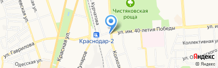Зодиак на карте Краснодара