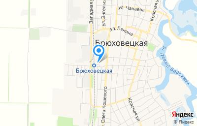 Местоположение на карте пункта техосмотра по адресу Краснодарский край, ст-ца Брюховецкая, ул Привокзальная, д 1