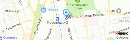 Лилу на карте Краснодара
