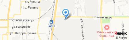 Акванет на карте Краснодара