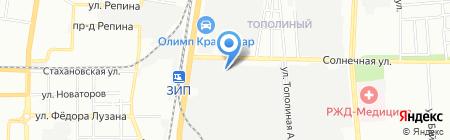 Юг Бизнес Центр на карте Краснодара