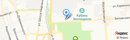 Агатис на карте Краснодара