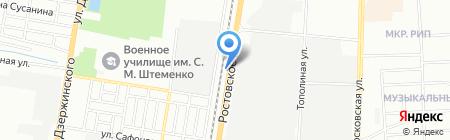 Ольхон на карте Краснодара