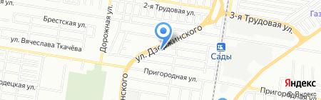 Архитек на карте Краснодара