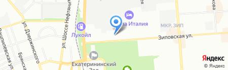 Ардизия на карте Краснодара