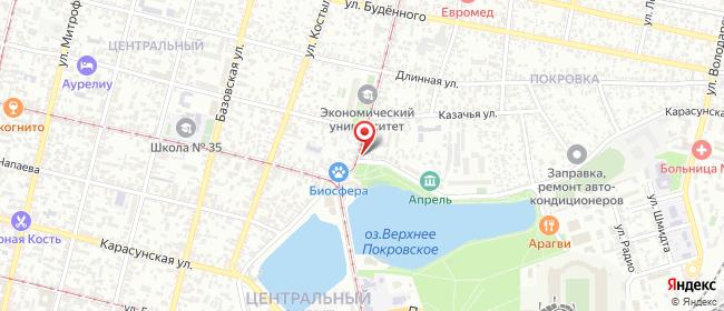 Карта расположения пункта доставки Краснодар Садовая в городе Краснодар