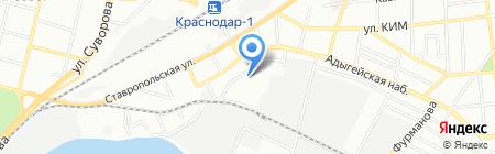 Амико на карте Краснодара