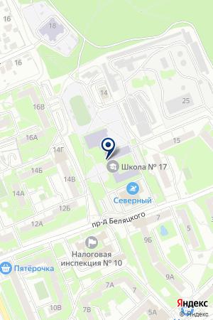 ШКОЛА СРЕДНЕГО ОБЩЕГО ОБРАЗОВАНИЯ № 17 на карте Орехово-Зуево