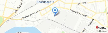 Мипо-Юг на карте Краснодара