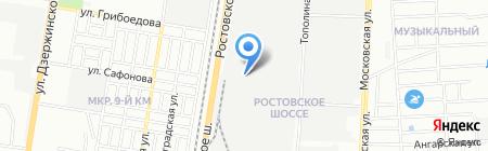 Испаньол на карте Краснодара