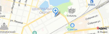 Аист на карте Краснодара